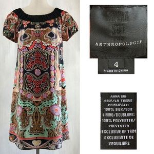 ANNA SUI for ANTHROPOLOGIE Paisley Pixie Dress